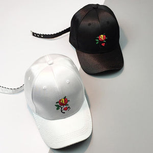 Feitong Embroidery Rose Unisex Cap