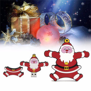 Malloom Christmas Gift 16GB USB Memory Card Santa Claus