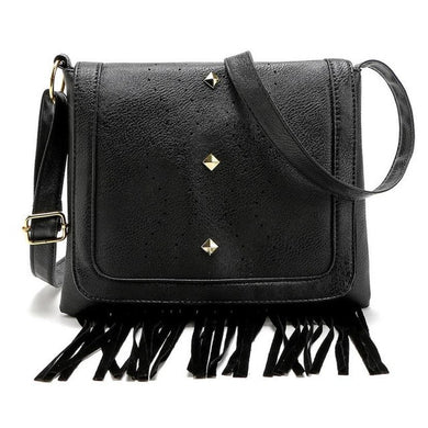 Xiniu 2016 Leather crossbody soft cover solid saddle tassel bag