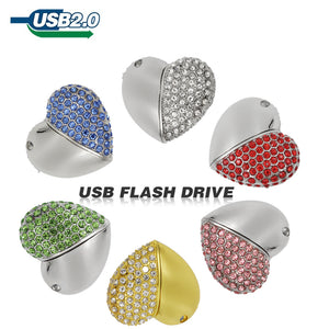 TECHKEY Color diamond heart pen drives