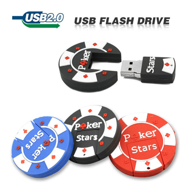 TECHKEY Cartoon rubber Poker Stars USB