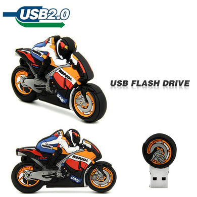 TECHKEY cartoon Motorcycle memory stick