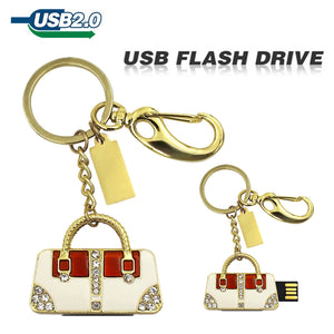 TECHKEY Golden & sliver diamond handbag pen drive