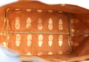 The Metallic Pineapple Paper Tote Rose Gold -  FSC® Certified