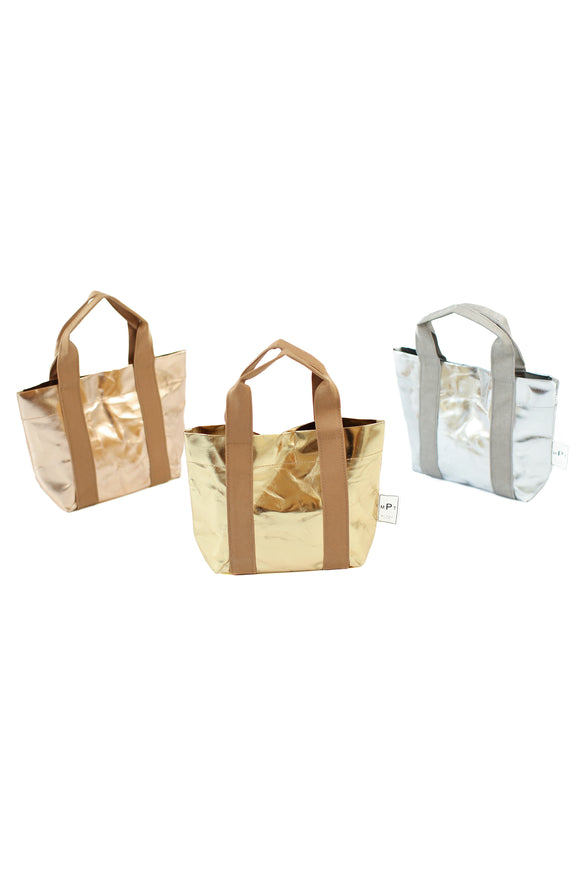 The Metallic Mini Paper Tote