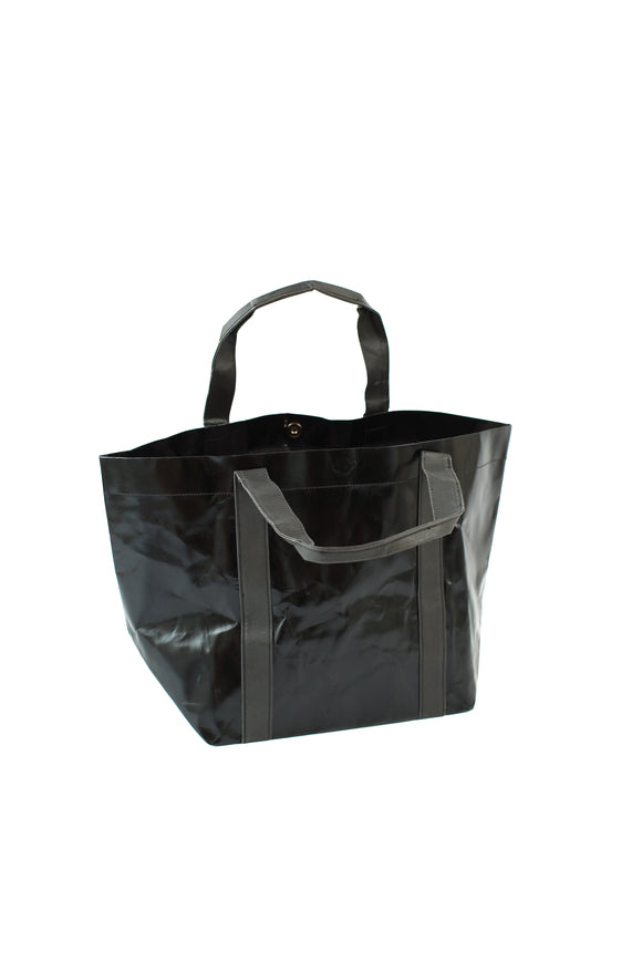 The Metallic Black Paper Tote