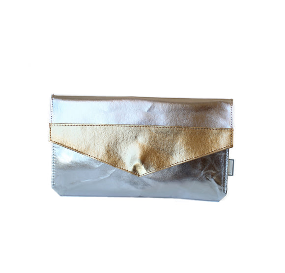 The Metallic Paper Clutch