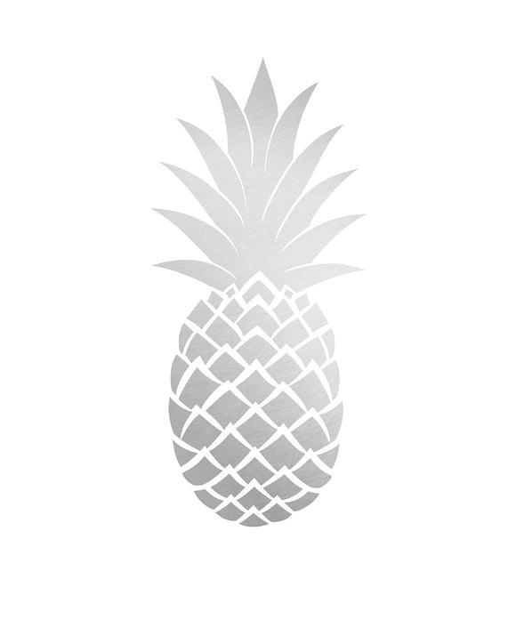 The Pineapple Paper Tote Silver -  FSC® Certified
