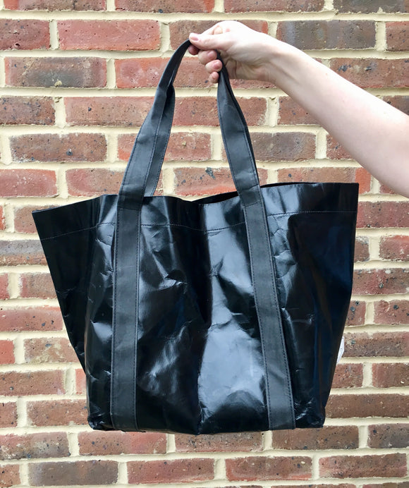 PRE SALE The Metallic Black Paper Tote