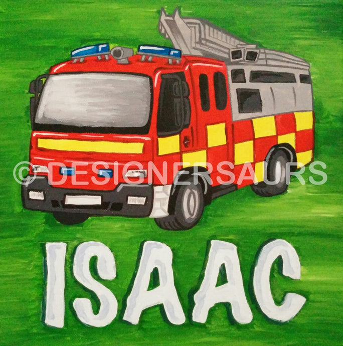 Fire Engine Canvas 12