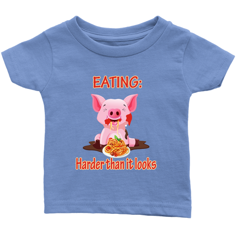 Eating, harder than it looks - infant