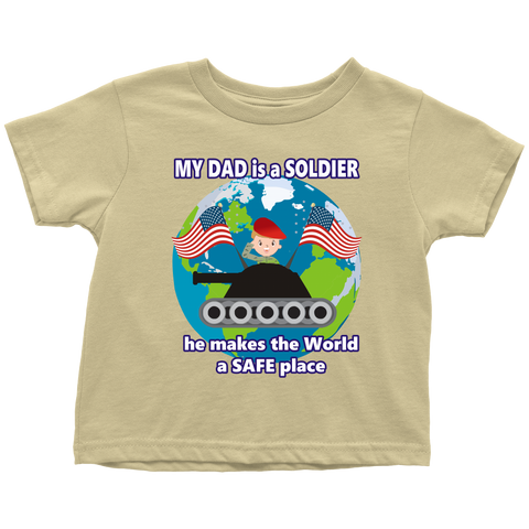 My Dad is a Soldier (Tank) - toddler
