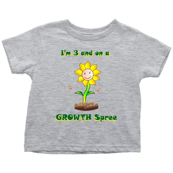 3 and on a Growth Spree - toddler