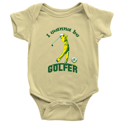 I wanna be a Golfer (motion) - onesie