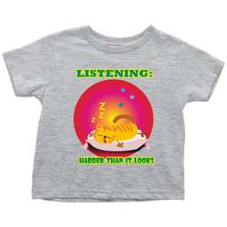 Listening harder than it looks - toddler