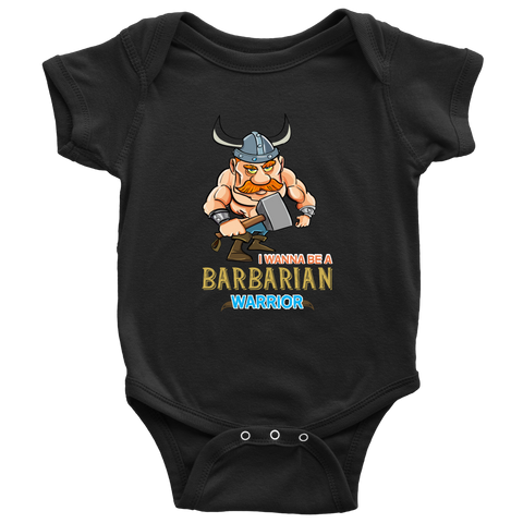 I wanna be a Barbarian - onesie