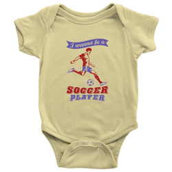 I wanna be a Soccer player (motion) - onesie