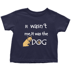 It was the Dog - toddler