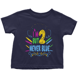 2 but never blue - toddler
