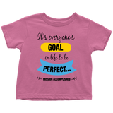 Goal to be Perfect - toddler