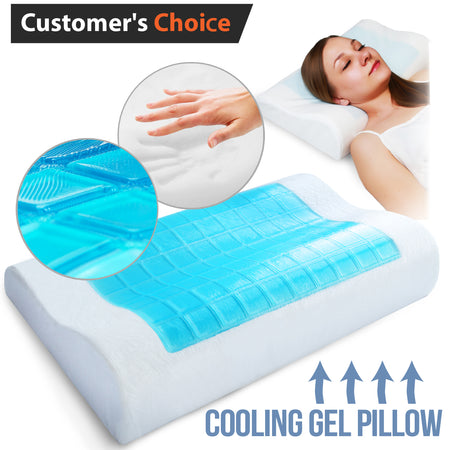 Orthopedic Memory Foam Pillow with Cooling Gel