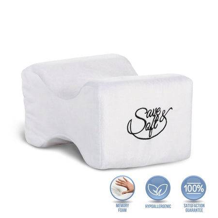 Save&Soft Pillow Orthopedic Memory Foam Knee Pillow