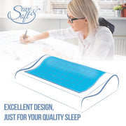 Save&Soft Pillow Orthopedic Memory Foam Pillow with Cooling Gel