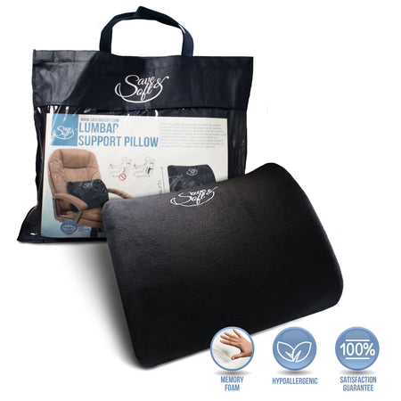 Save&Soft Pillow Othopedic Memory Foam Lumbar Pillow