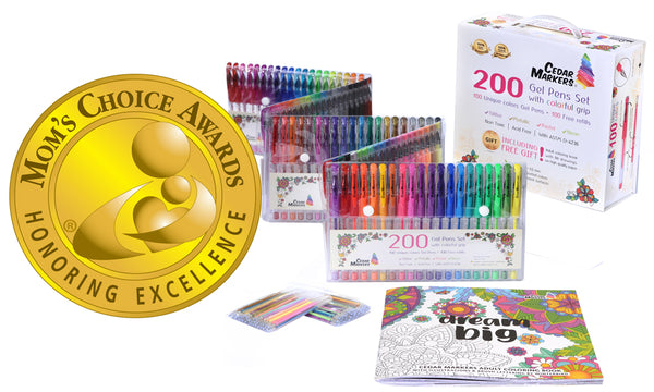 Cedar Markers Gel Pens set wins gold medal!