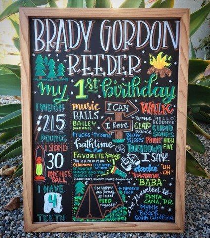 Chalk markers, Liquid chalk markers, Chalk pens, Chalkboard sign, chalkboard signs, Chalkboard art, chalk lettering, Cedar Markers, birthday board, birthday boards