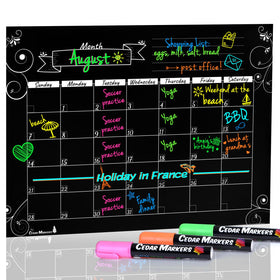 "16"" X 12"" Black Magnetic Fridge Monthly Calendar"