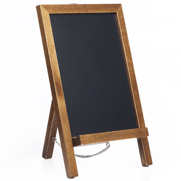 "14""x9.5"" Mini Chalkboard Sign with Chain for Kitchen and Wedding Receptions"