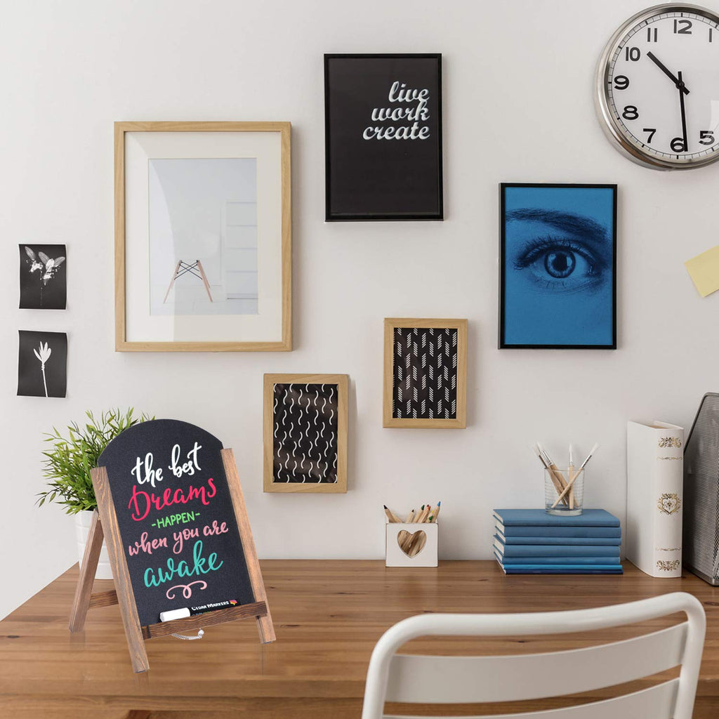 Stylish wooden frame chalkboard