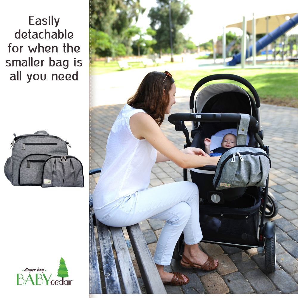Baby Cedar Diaper Bag (Gray)