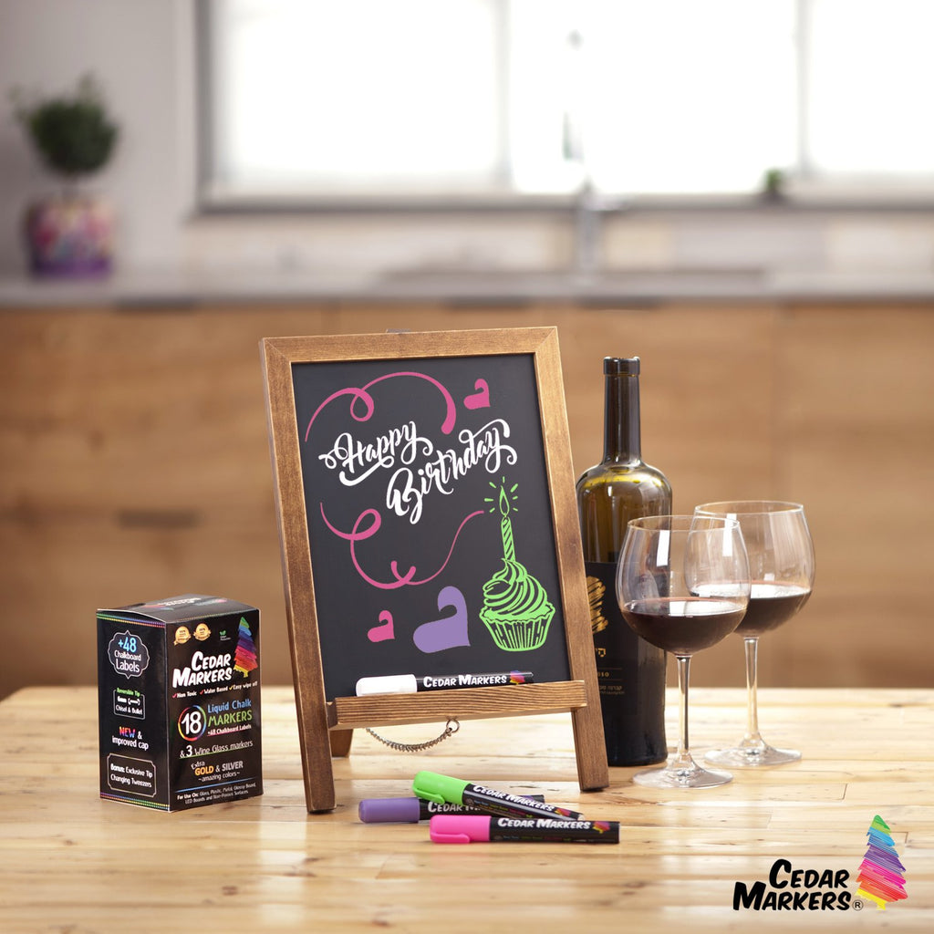 Mini chalkboard for kitchen