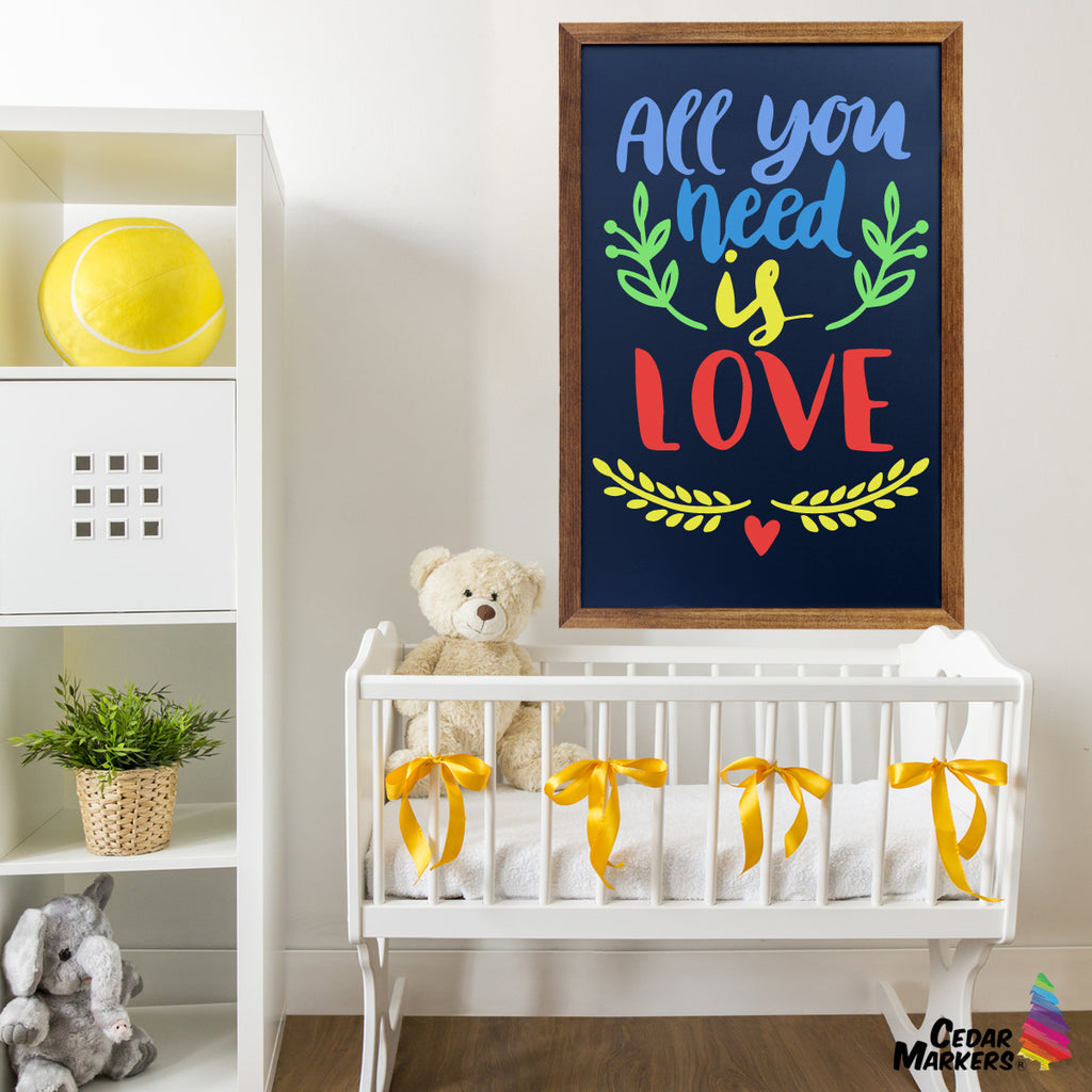 Wall hanging chalkboards