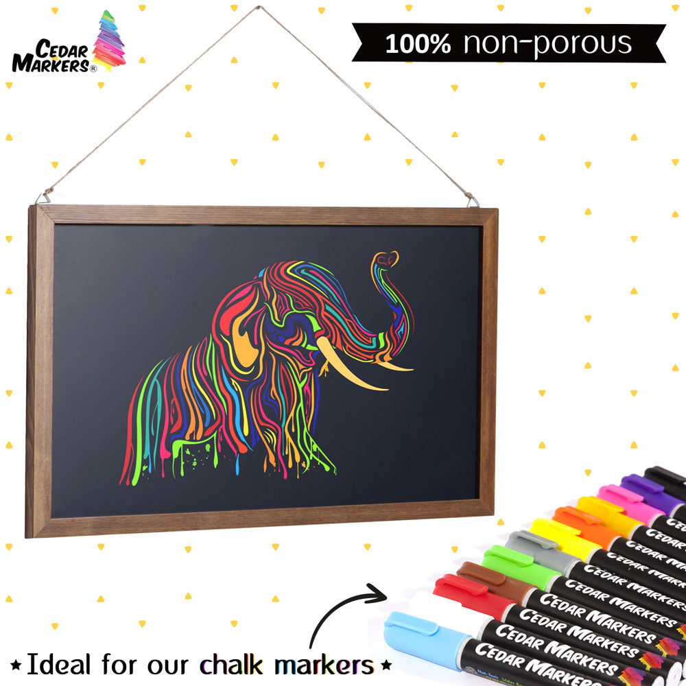 Liquid Chalk Markers. 12 Pack with Free 40 Chalkboard Labels