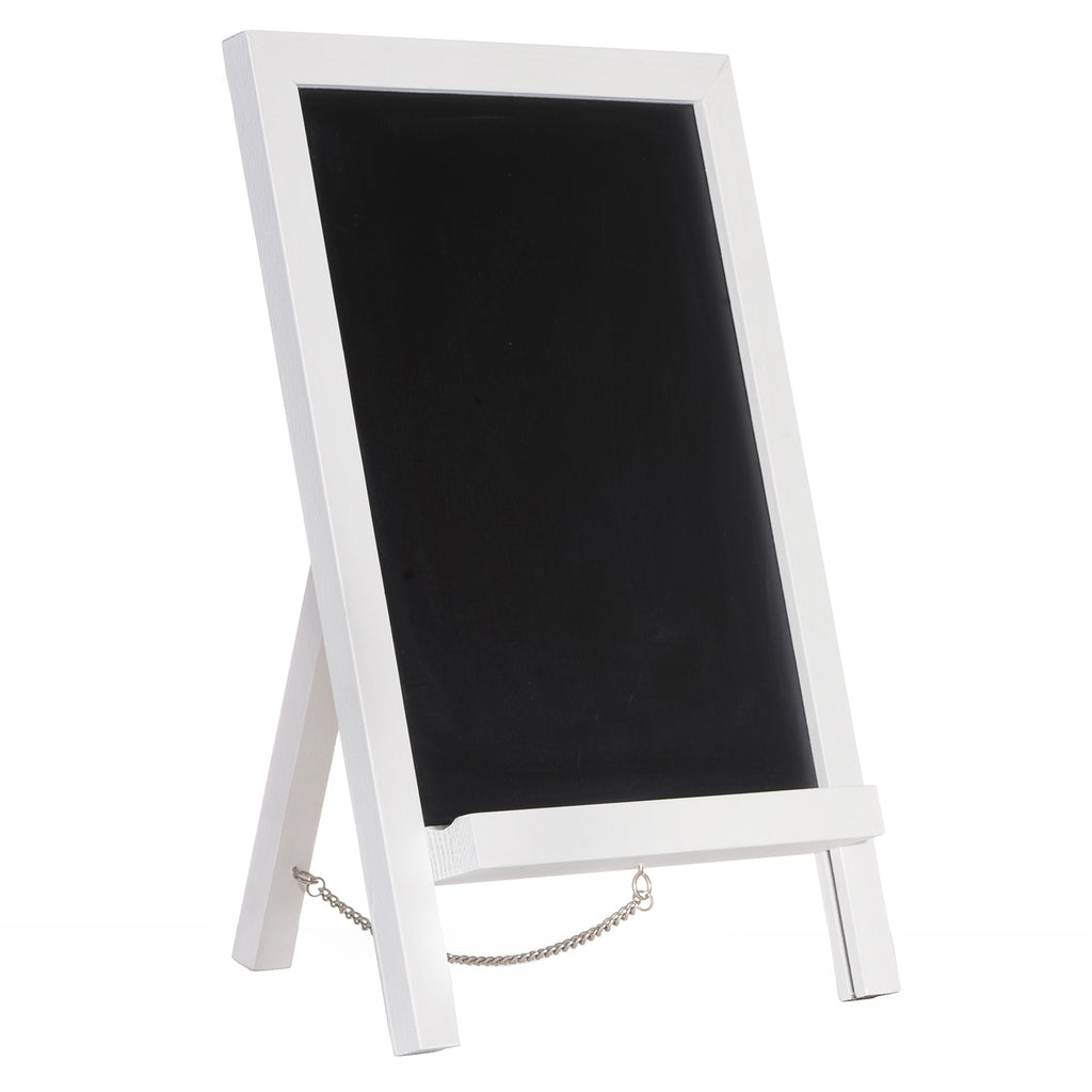 "15""x10"" Mini Chalkboard Sign with Chain for Kitchen and Wedding Receptions. White Frame"