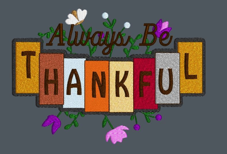 Always Be Thankful  5x7