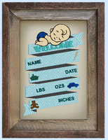 Baby Boy Birth Information Sign 9x6