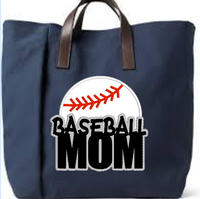 Baseball Mom Applique  5x5