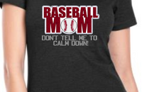 Baseball Mom Applique 5x7