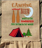 Camping Without Beer 9x6