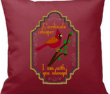 Cardinals Whisper I Am With You Always 9x6