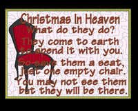 Christmas In Heaven Mug Rug 5x7