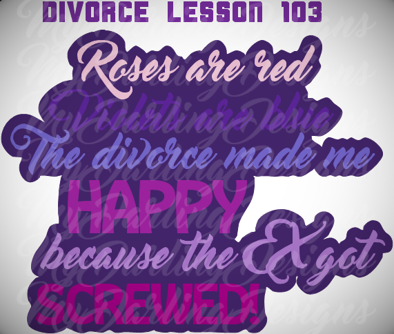 Divorce Lesson 103  SVG
