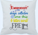 Embroidery design collectors Love This  5x7