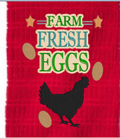Farm Fresh Eggs  5x7