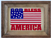 God Bless America Flag 5x7