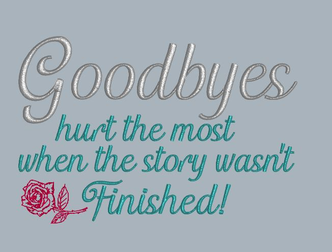 Goodbyes Hurt The Most 5x7